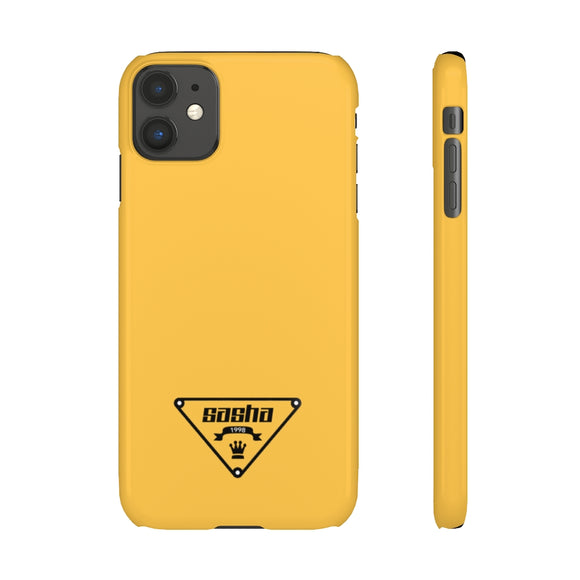 PERSONALISED -  NAME/YEAR -  MILANO YELLOW PHONE CASE