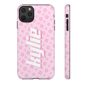PERSONALISED - NAME -  PINK PATTERN PHONE CASE