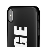 PERSONALISED - NAME -  BLACK PHONE CASE