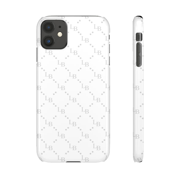 PERSONALISED -  INITIALS -  GREY/WHITE LETTER PATTERN PHONE CASE