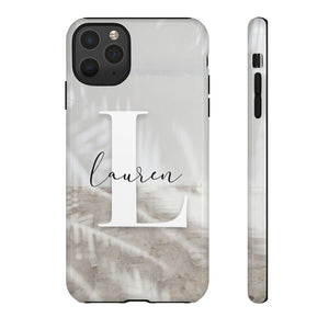 PERSONALISED - NAME -  PALM SHADOW PHONE CASE