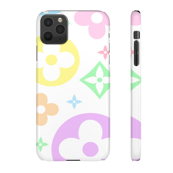 XL PASTEL FLOWERS WHITE PHONE CASE
