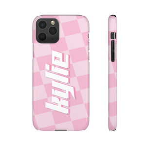 PERSONALISED - NAME -  PINK SQUARES PHONE CASE