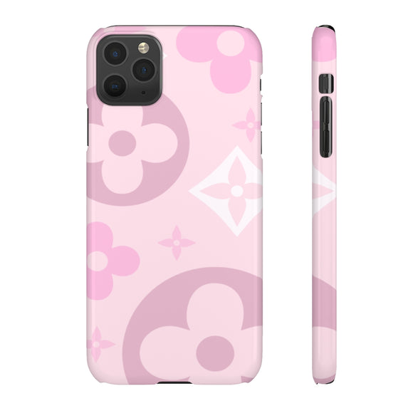 XL PINK FLOWERS PHONE CASE