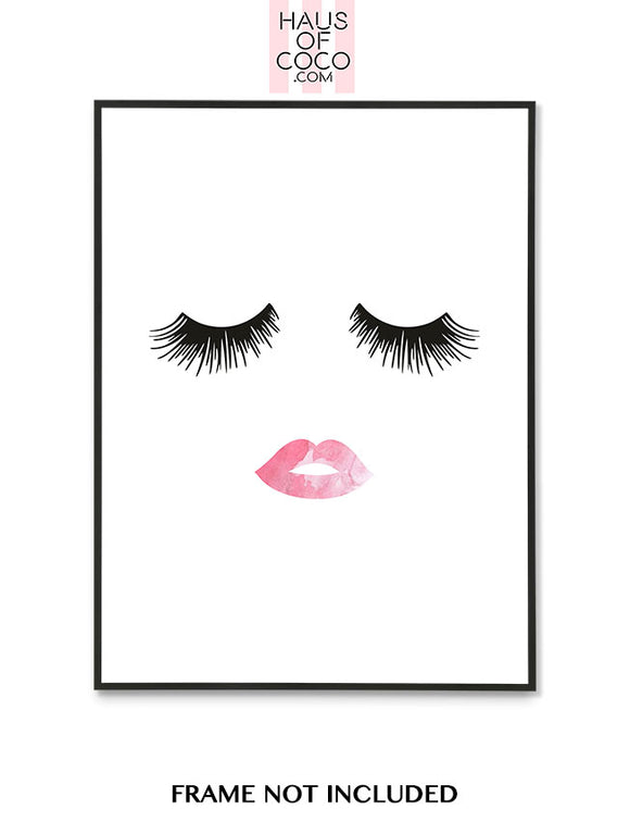 LASHES PINK LIPS