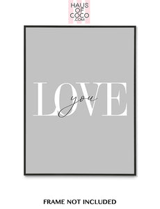 LOVE YOU - GREY