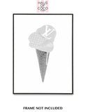 LV GREY ICE CREAM SET/3