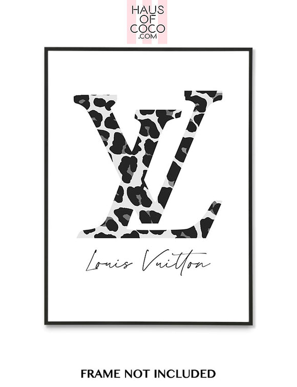 LV LEOPARD GREY/BLACK
