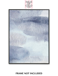 BLUE/SILVER LARGE BRUSH ART