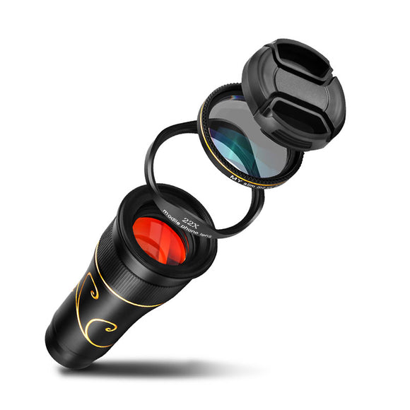 Telephoto Lens Rotatable Adjustment for Smartphone 22X HD