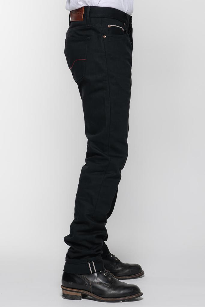 Selvedge Protective Riding Jeans // Black