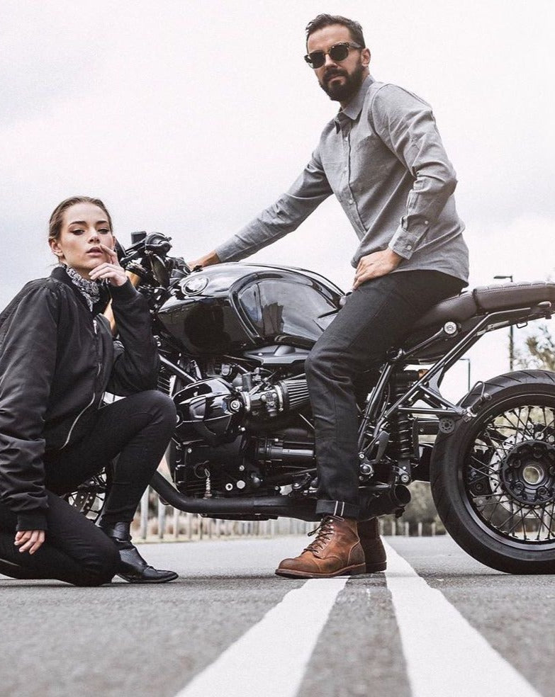 Selvedge Denim Jeans // Black - Clutch Moto - Cafe Racer Club
