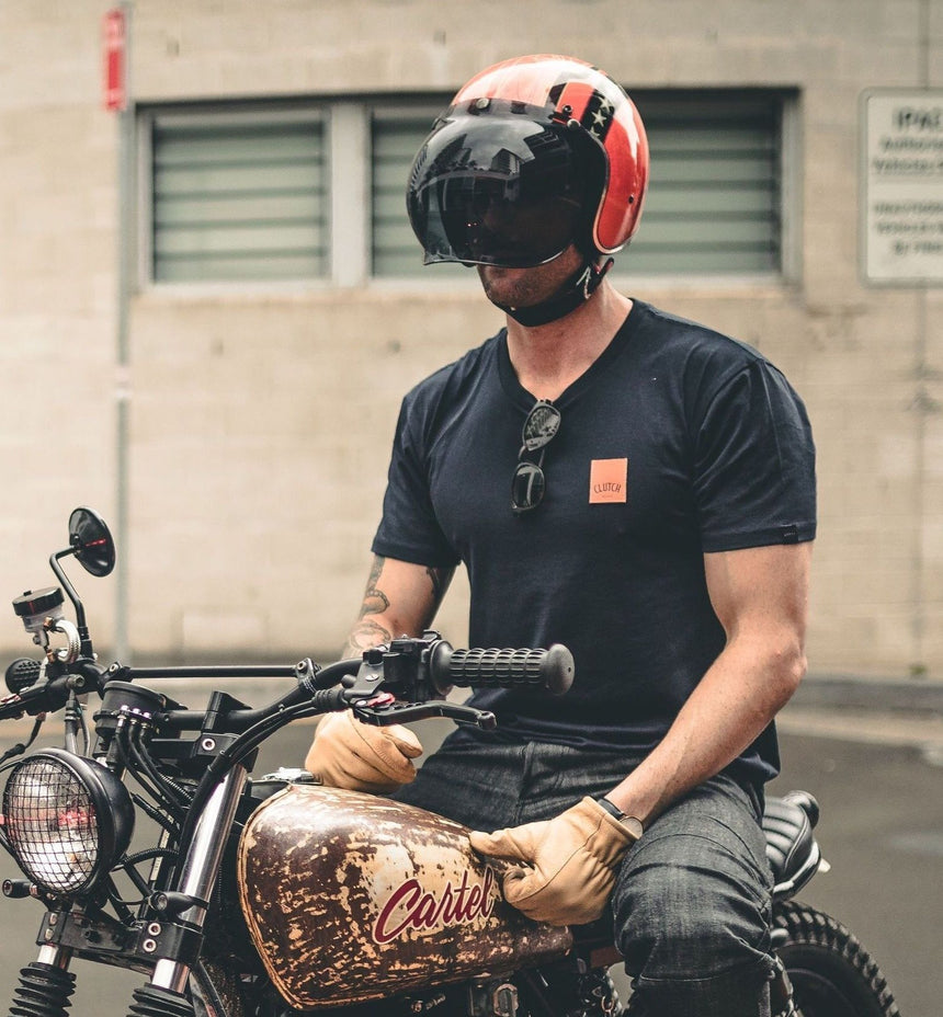 Icon Tee - Clutch Moto - Cafe Racer Club