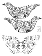 Load image into Gallery viewer, FREE printable download - bird ornament