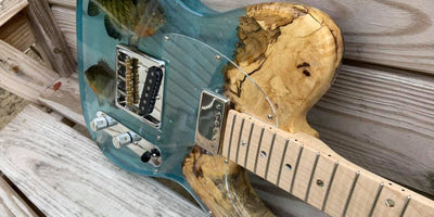 WiseBond Epoxy Guitar with Real Fish