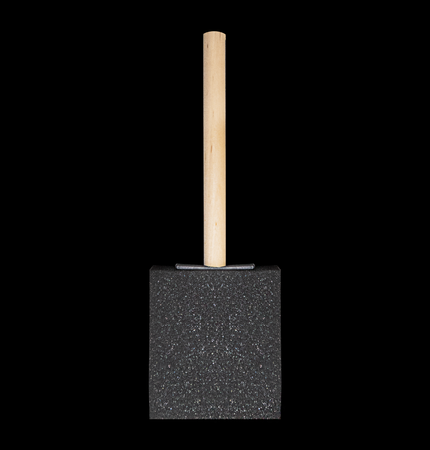 Epoxy 2 Inch Foam Sponge Brush with Wood Handle