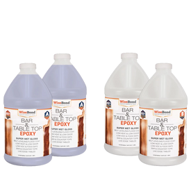 Bar & Table Top Epoxy 1:1 Ratio - 2 Gallon (2 - 1 Gal Kits) Wise Bundle*
