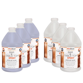 Bar & Table Top Epoxy 1:1 Ratio - 3 Gallon (3 - 1 Gal Kits) Wise Bundle*