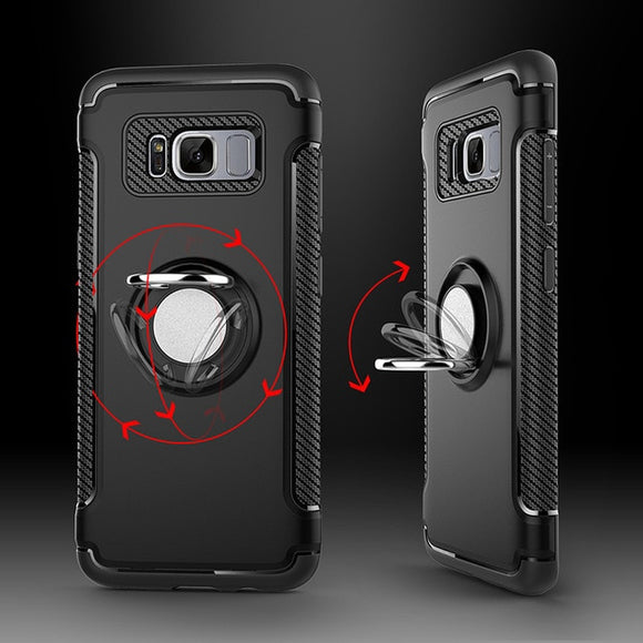 Magnetic Car Holder Bracket Luxury Case For Samsung S7 Edge S8 S9 Plus J3 J5 J7 2016 2017 J2 Prime Shockproof Back Cover