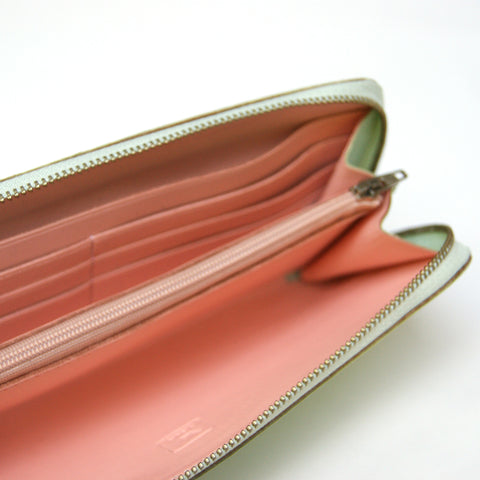 Leather Traveller Wallet in Mint