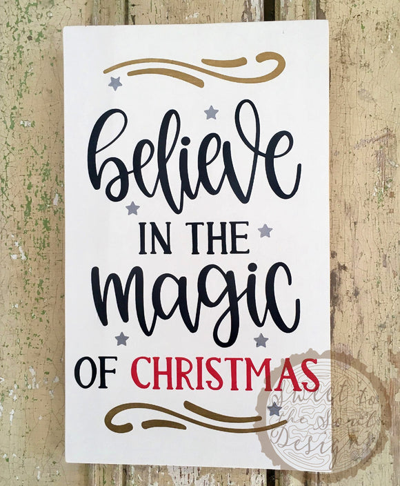 Believe in the Magic of Christmas Wood Sign - 8