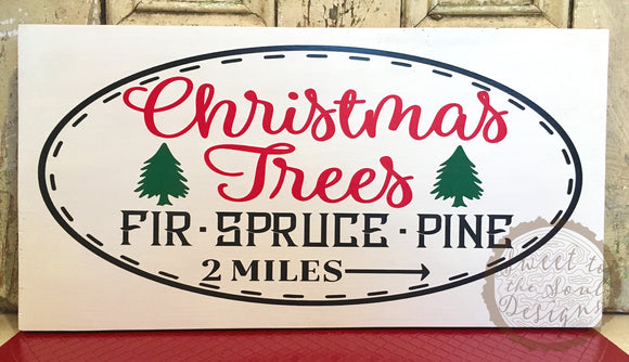 Christmas Trees 2 Miles Wood Sign Home Decor 10