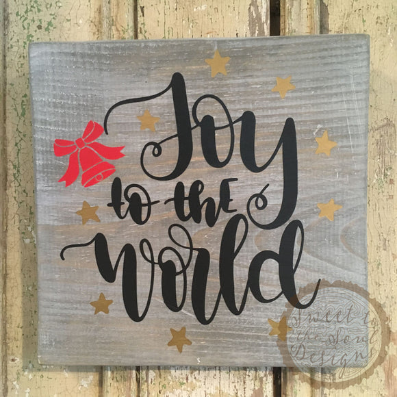 Joy to the World Christmas Wood Sign Home Decor