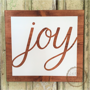Inspirational Joy Wood Sign & Home Decor