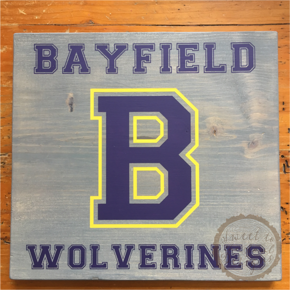 Custom School Spirit Letter Wood Sign