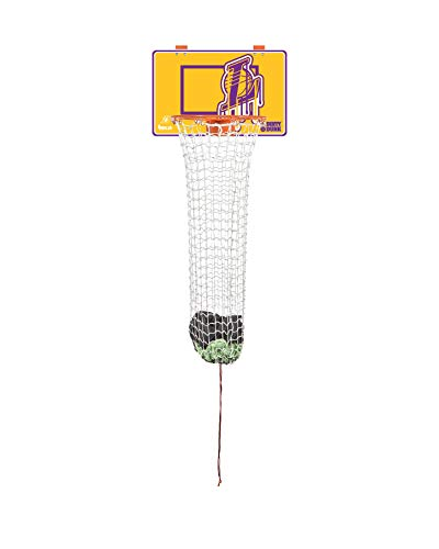 Dirty Dunk The Dunk Collection Over-The-Door Basketball Hoop Laundry Hamper, Los Angeles Lakers, Nba