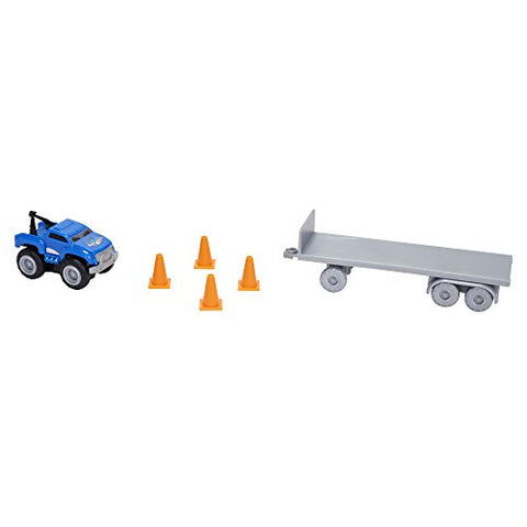 Max Tow Truck Mini Haulers Tow And Go Packs Blue Tow Truck With Tire