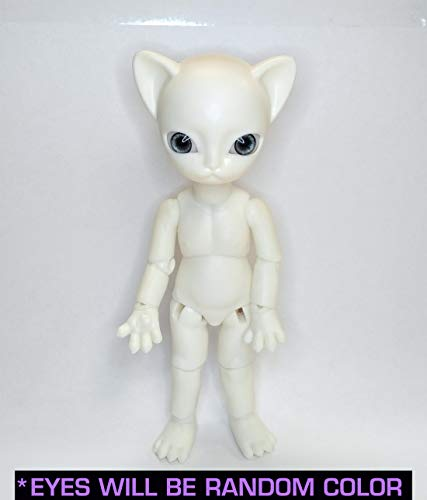 Junkyspot Hujoo Nano Freya Special Edition Glow Blank 12Cm Ball Jointed Cat Anthro Doll With Random 12Mm Eyes