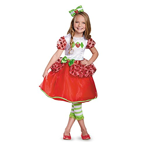 Disguise 84477L Strawberry Shortcake Deluxe Costume, Small (4-6X)