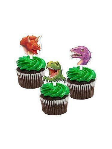 2 X Dinosaur Cupcake Toppers Package Of 12