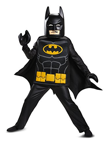 Batman Lego Movie Deluxe Costume, Black, Medium (7-8)