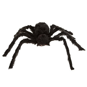 Winomo Black Large Spider Halloween Decoration Haunted House Prop Plush Spider Scary Decoration