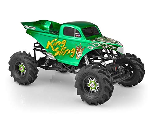 J Concepts King Sling Mega Truck Clear Body With Scoop: Axial
