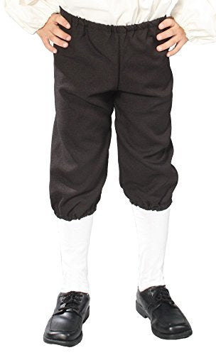Alexanders Costumes Kids Knicker Pants, Black, Small