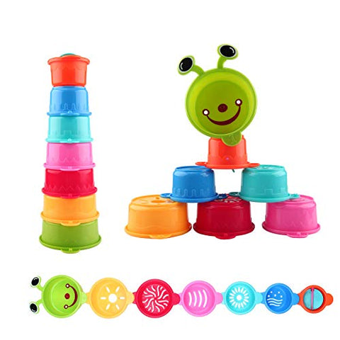 Stacking Cups Early Educational Toddlers Toy Bathtub Toys For Kids Baby