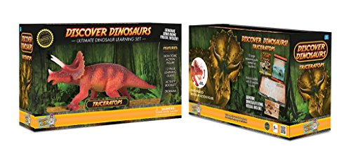 Includes Real Dinosaur Bone Fossil! Triceratops Action Figure
