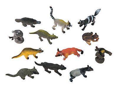 Curious Minds Busy Bags Miniature Animal Assortment With Platypus Figurines Replicas - Mini Action Figures Toys - Miniature Animal Playset