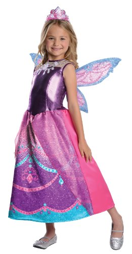 Barbie Fairytopia Mariposa And Her Butterfly Fairy Friends Deluxe Catania Costume, Small