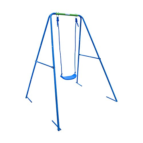 Aleko Bsw01 Child Toddler Swing Sturdy Outdoor Swing Seat Playground Accessory, Blue