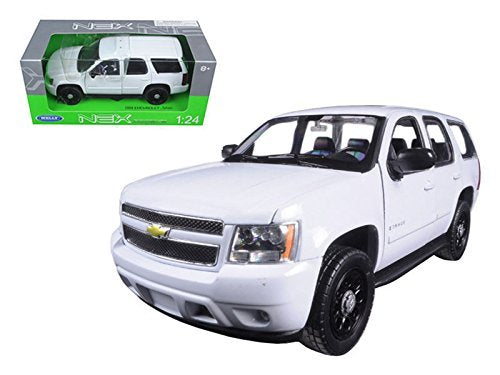 Welly 2008 Chevy Tahoe Police Version 1/24 Scale Diecast Model Car White