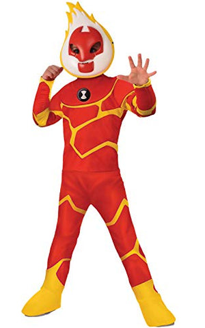 Rubie'S Ben 10 Child'S Deluxe Heatblast Costume, Small