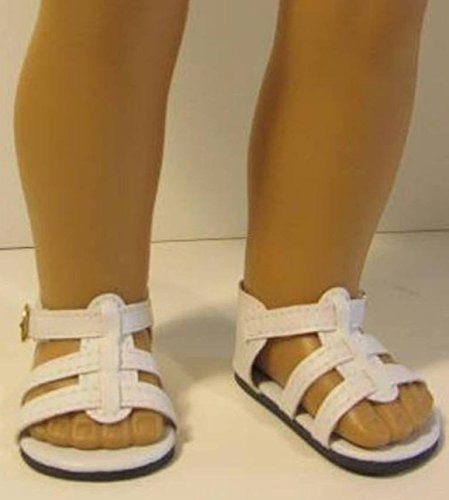 6f9edbd3f8034 White Sandals Shoes ~ Doll Clothes For 18 Inch Dolls, Fits American Girl  4Ctnwt