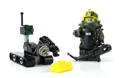 Battle Brick Eod Disposal Team And Robot Us Navy Custom Set
