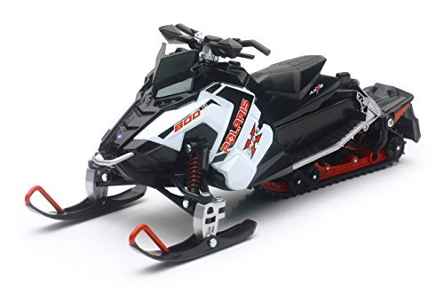 Polaris 800 Switchback Pro-X Snowmobile (White) By Newray 1:16 Scale