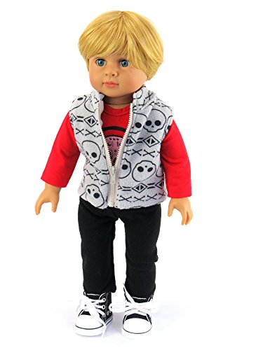 Rockin Boys Outfit Includes: Shirt, Vest, And Pants| Fits 18 American Girl Dolls, Madame Alexander, Our Generation, Etc. | 18 Inch Doll Clothes