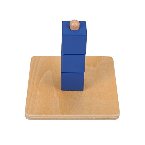 Leader Joy Montessori Materials Cubes On Vertical Dowel Toddler Preschool Toy